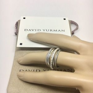 David Yurman Crossover Ring Size 5